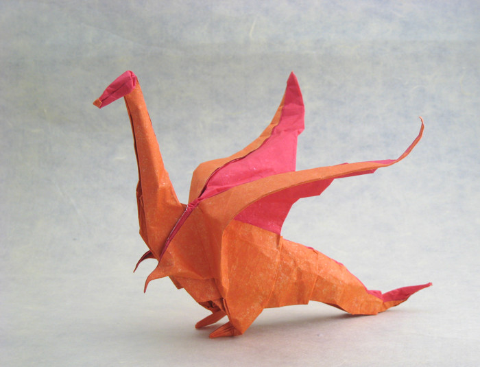 Origami Dragon by Jozsef Zsebe folded by Gilad Aharoni on giladorigami.com