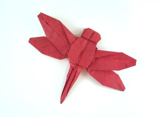 Origami Dragonfly by Robert J. Lang Folded from a rectangle of Unryu paper by Gilad Aharoni on giladorigami.com
