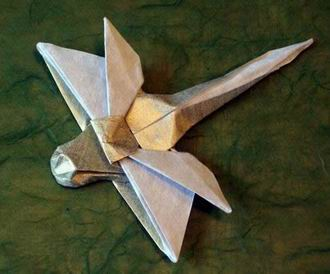 Nicolas Terry 39 Square Origami Dragonfly By Folded From A Of Insect Paper Gilad Aharoni