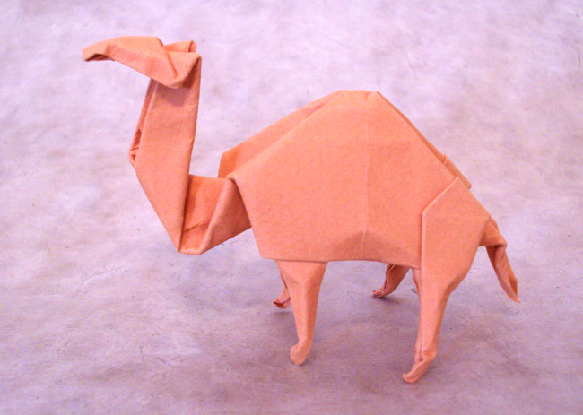 Origami Dromedary by John Montroll Wet-folded from a square of 160gsm Canson art paper by Gilad Aharoni on giladorigami.com