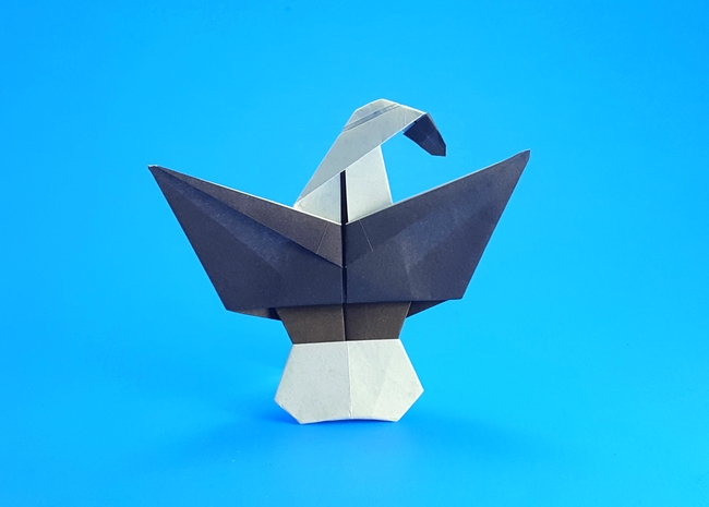 Origami Eagle by Marc Kirschenbaum folded by Gilad Aharoni on giladorigami.com