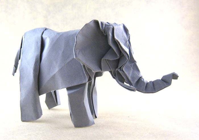 origami elephant from a dollar bill | Origami elephant, Dollar ... | 493x700