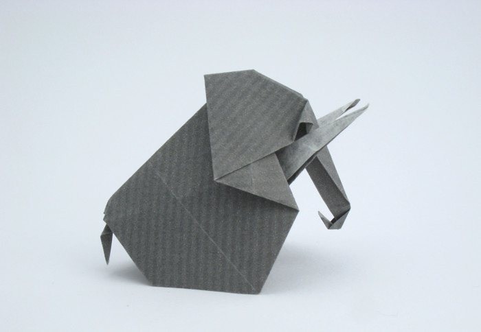 How to Make an Origami Elephant Designed by Fumiaki Kawahata | 363x480
