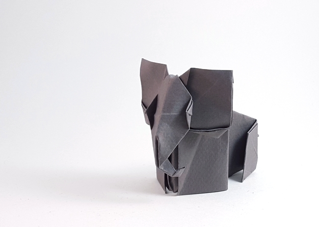 Origami Elephant by Seo Won Seon (Redpaper) folded by Gilad Aharoni