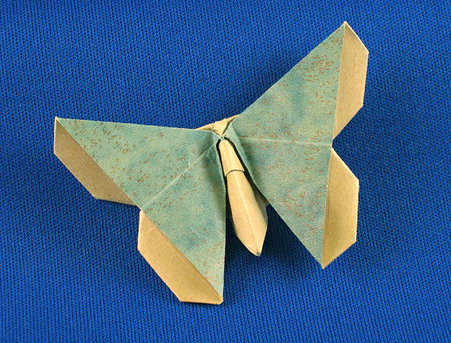 Origami Butterfly - Emiko Fritillary by Michael G. LaFosse folded by Gilad Aharoni on giladorigami.com