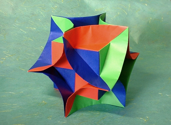 Origami Enigma Cube By David Brill Folded Gilad Aharoni