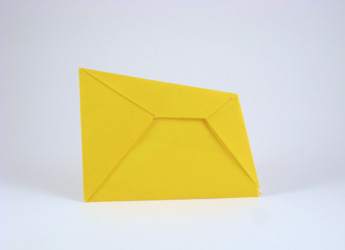 Origami New perspective envelope by Jeremy Shafer folded by Gilad Aharoni on giladorigami.com