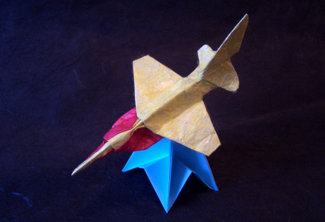 Origami F-CK-1A by Tem Boun folded by Gilad Aharoni