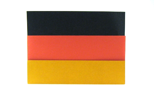 origami flag of germany