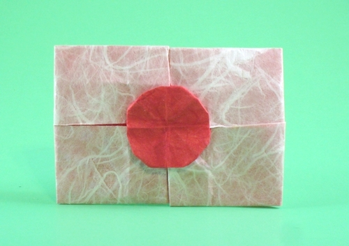 Origami Flag of Japan by Gilad Aharoni folded by Gilad Aharoni