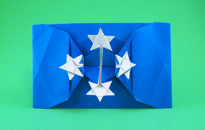 Origami Flag of Micronesia by Gilad Aharoni folded by Gilad Aharoni