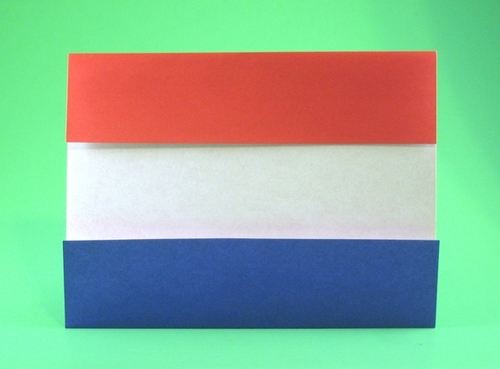 origami flag of the netherlands