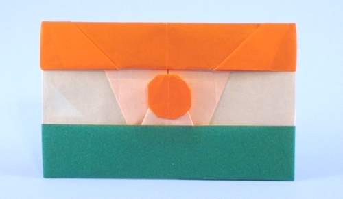Origami Flag of Niger by Gilad Aharoni folded by Gilad Aharoni