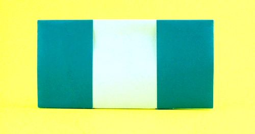 Origami Flag of Nigeria by Gilad Aharoni folded by Gilad Aharoni