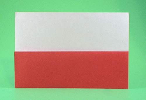 Origami Flag of Poland by Gilad Aharoni folded by Gilad Aharoni