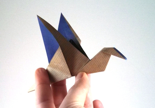 Origami: flapping bird - YouTube | 351x500