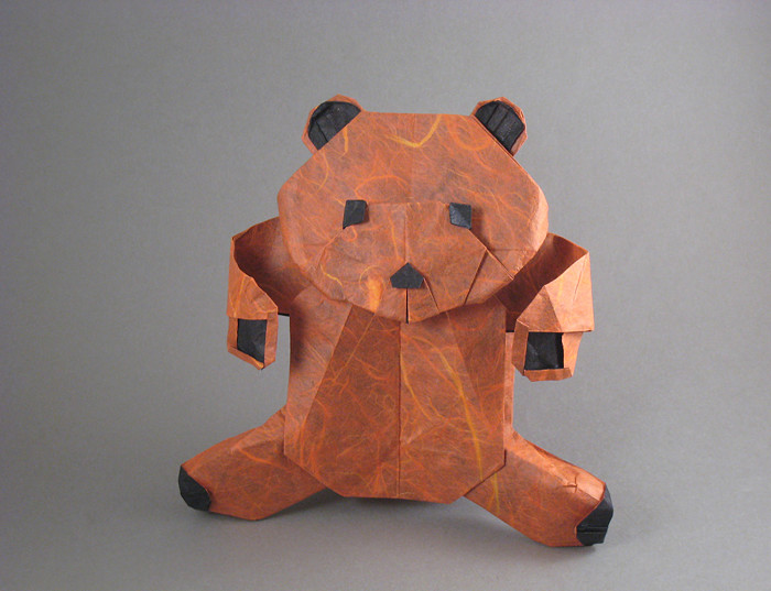 Origami Bear - Fluffy by Marc Kirschenbaum folded by Gilad Aharoni on giladorigami.com