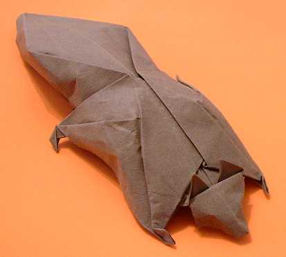 Origami Flying squirrel by Aaron Einbond folded by Gilad Aharoni