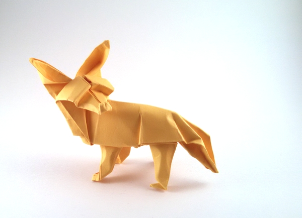 Origami Fox by David Brill folded by Gilad Aharoni