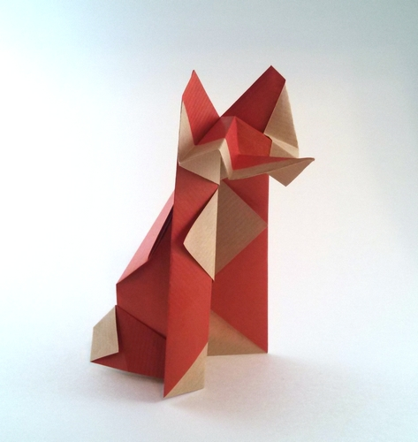 Origami Fox by Paul Jackson folded by Gilad Aharoni