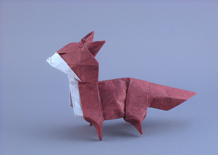 Origami Fox by Toshikazu Kawasaki folded by Gilad Aharoni