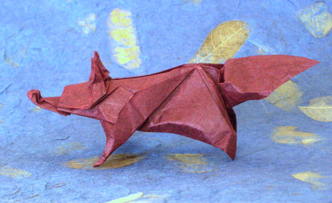 Origami Fox by Nicolas Terry folded by Gilad Aharoni