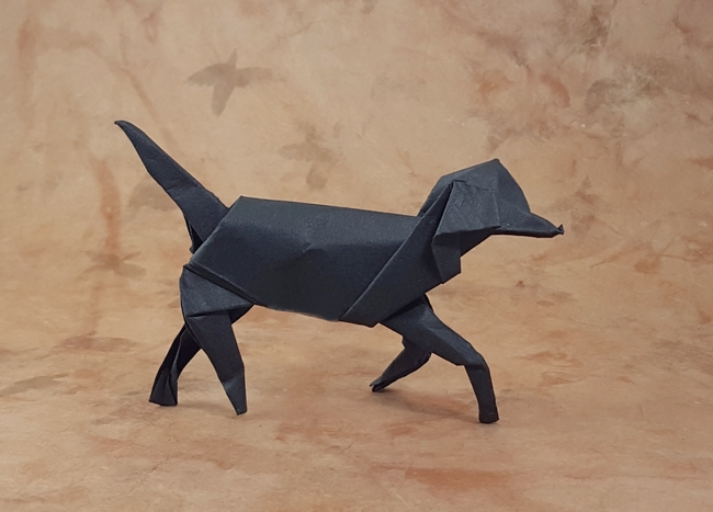 Origami Foxhound by David Brill folded by Gilad Aharoni
