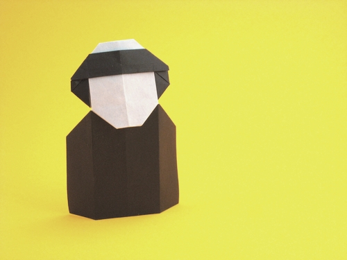Origami Friar by David Petty folded by Gilad Aharoni