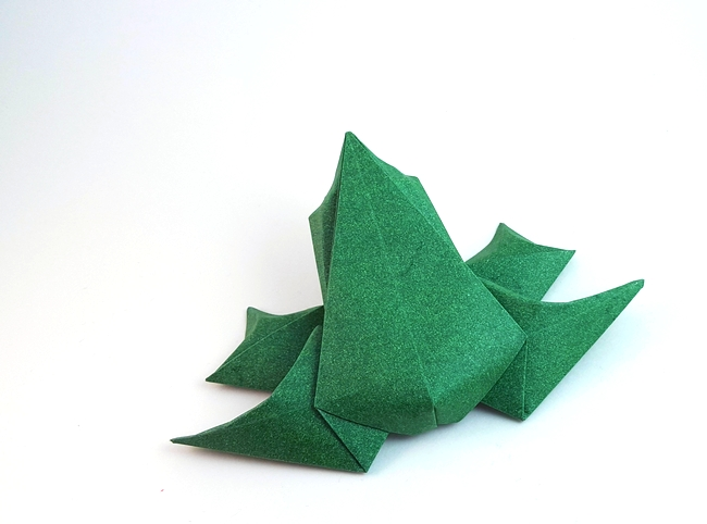 Origami Frog by Beth Johnson folded by Gilad Aharoni on giladorigami.com