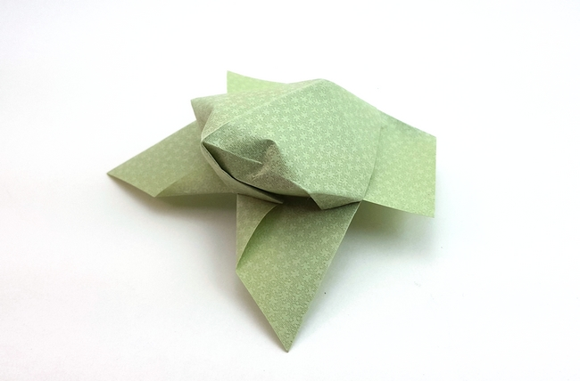 Nick Robinson 49 Square Origami Frog By Folded From A Of Textured Paper Gilad Aharoni