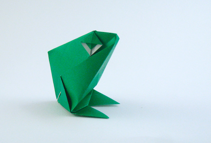 Origami Frog - smiling by Roman Diaz folded by Gilad Aharoni on giladorigami.com