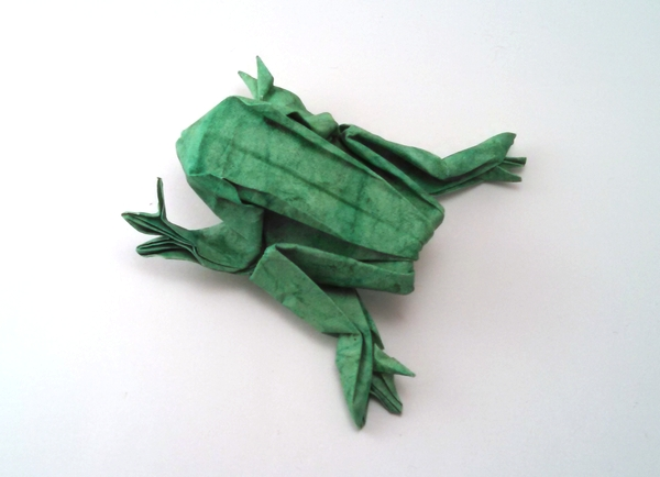 Origami Frog by John Szinger Folded from a square of hand-made paper by Gilad Aharoni on giladorigami.com