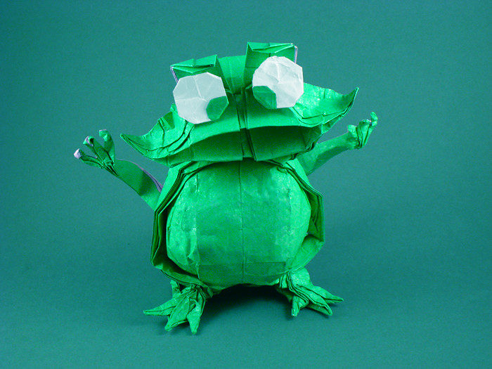 origami cartoon frog