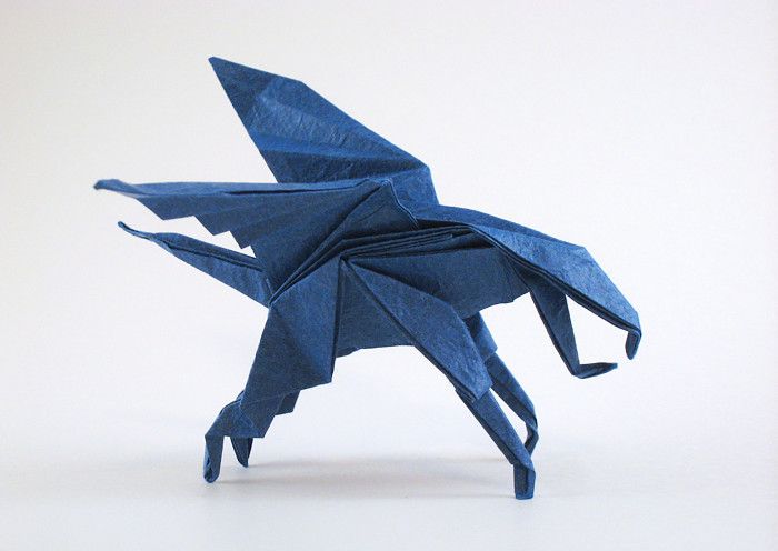 Origami Gargoyle By Jerry Harris Folded Gilad Aharoni