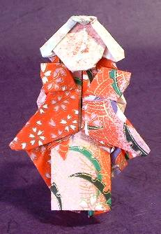 Origami Geisha by Jose Meeusen (Krooshoop) Folded from a square of Washi paper by Gilad Aharoni on giladorigami.com
