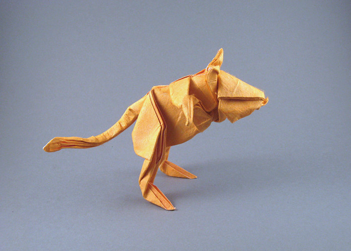 Excellent Origami Gerbil By Lionel Albertino Wet Folded From A Square Of Double Sided Mulberry