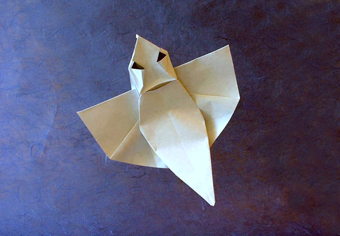 Origami Ghost By Robin Glynn Folded From A Square Of Paper Gilad Aharoni On
