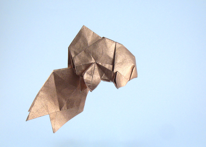 Origami Fantail goldfish by Ares Alanya folded by Gilad Aharoni