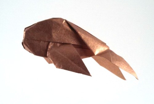 Origami Goldfish by Patricia Crawford folded by Gilad Aharoni on giladorigami.com