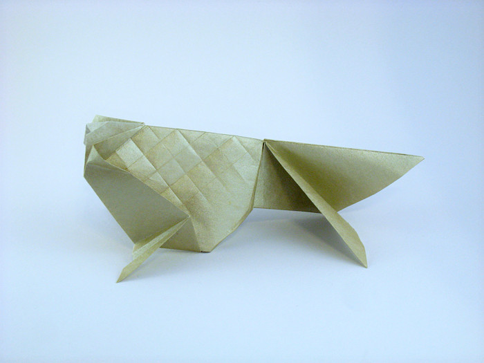 Origami Goldfish by Roman Diaz folded by Gilad Aharoni