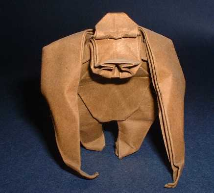 Origami Gorilla by Lionel Albertino Wet-folded from a square of art-paper by Gilad Aharoni on giladorigami.com
