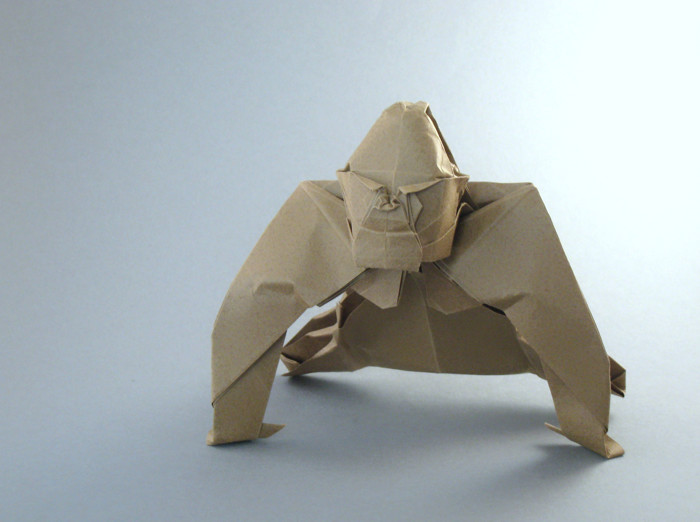 Origami Gorilla by Quentin Trollip folded by Gilad Aharoni