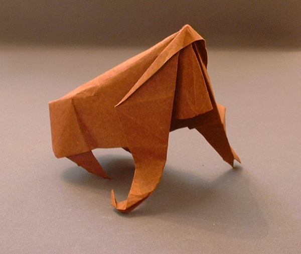 Origami Gorilla by Stephen Weiss Folded from a square of origami paper by Gilad Aharoni on giladorigami.com