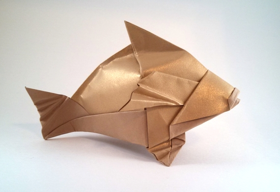 Origami Brown Grouper by Gerard Ty Sovann folded by Gilad Aharoni