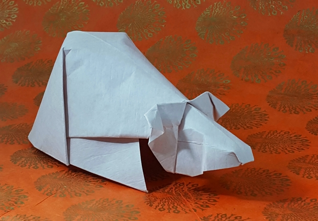 Origami Guinea pig by David Brill folded by Gilad Aharoni