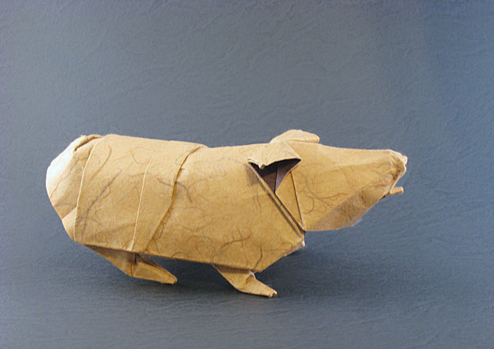 Origami Guinea pig by Chad Killeen folded by Gilad Aharoni