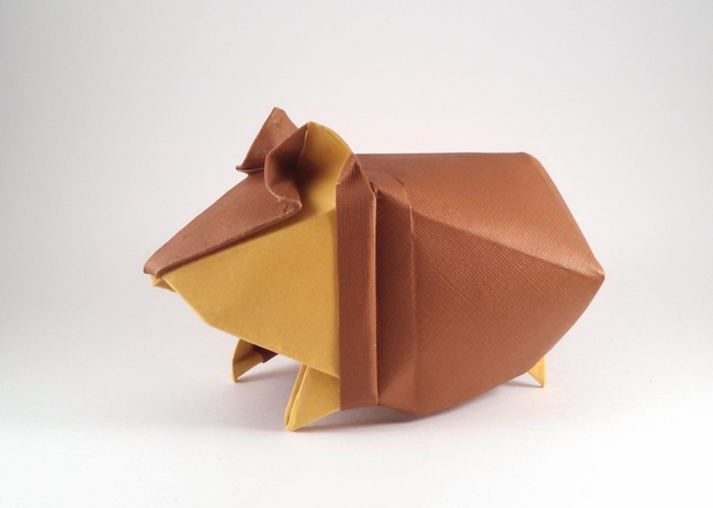 Origami Hamster by Yoo Tae Yong folded by Gilad Aharoni on giladorigami.com