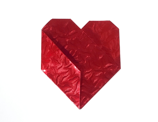 Origami Heart by Michael G. LaFosse Folded from a square of Japanese foil by Gilad Aharoni on giladorigami.com