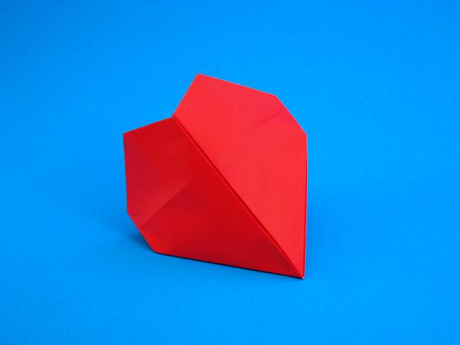 3D origami hearts | How About Orange | Coração de origami, Origami ... | 488x650