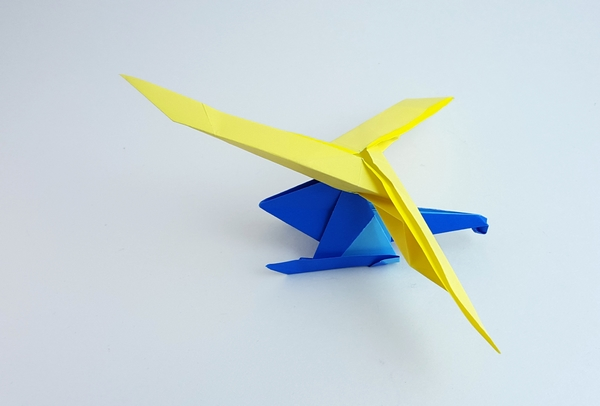 How to Make a Simple Origami Helicopter | Origami helicopter ... | 406x600